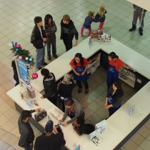 BNH Gift Wrapping Fundraising at Metrotown