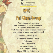 EPIC – Fall Community Clean-Up