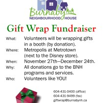 """Volunteers Needed for """"Gift Wrap"""" Fundraising"""